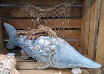 Deko Fisch ca.53x20x16cm Magnesia