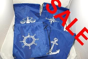 Rucksack Polyester blau ca.34x40cm
