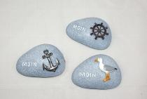 Steine Moin als Magnet 3-fach sort. ca.7x5cm