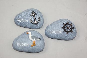 Steine Rügen 3-fach sort. ca.7x5cm