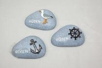 Steine Rügen als Magnet 3-fach sort. ca.7x5cm
