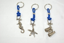 Schlüsselanhänger 3-fach sort ca.6cm Metall