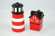 Salz/Pfeffer-Set LT+Haus in PVC-Box ca.11x5cm