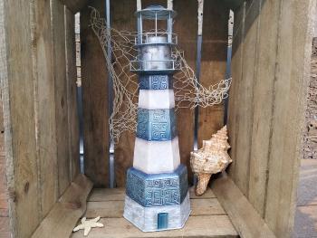 Metall 2020 Leuchtturm ca. 13x13x42cm