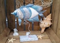 Metall 2020 Fisch auf Stand ca. 21x6x25cm