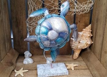 Metall 2020 Schildkröte auf Stand ca. 22x7x28cm