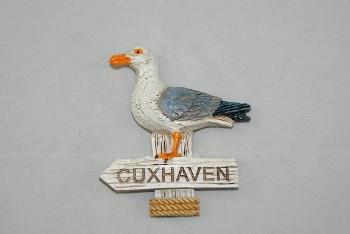 Magnet Möwe Schild Cuxhaven