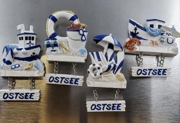 Magnet Maritim Ostsee 4-fach sort.