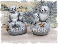 Seehunde auf Stein Moin ca.7x4x9cm