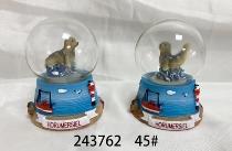 Schneekugel Seehund Horumersiel 2-fach sort. ca.4,5cm Poly