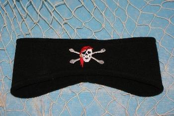Fleecestirnband Pirat schwarz