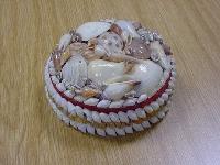 Muschelkasten rund 13 cm