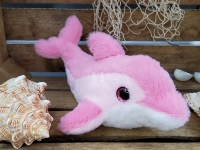 Delphin pink/rosa ca.27cm Plüsch