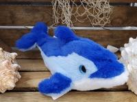 Delphin blau ca.27cm Plüsch