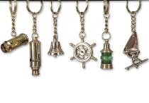 Schlüsselanhänger 6-fach sort. ca.6cm Messing