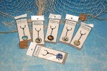 Schlüsselanhänger Maritim 6-fach sort. ca.10cm Glas