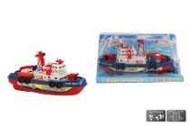 Feuerwehrboot mit Batterie