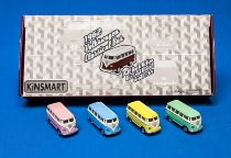 VW Bus Classic 1962 4sort. ca.7cm Metall