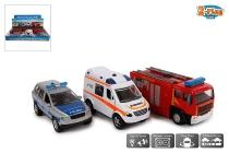 Rettungsfahrzeuge mit Licht und Sound sortiert